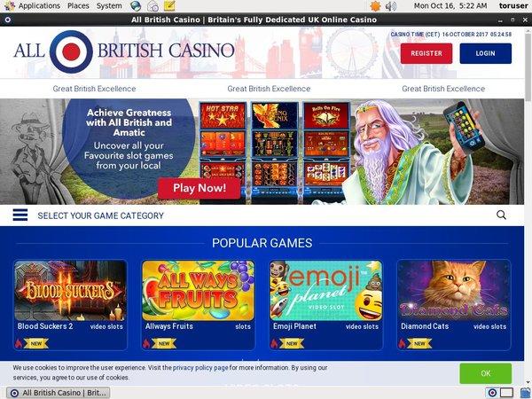 All British Casino Join Promo
