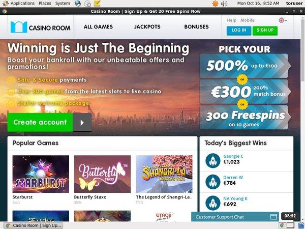 Casinoroom Get Bonus