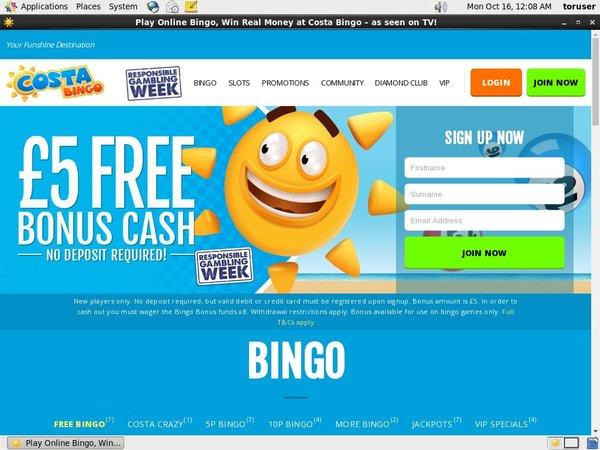 Costa Bingo App
