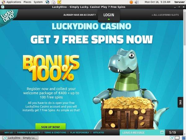 Luckydino Starburst Free Spins