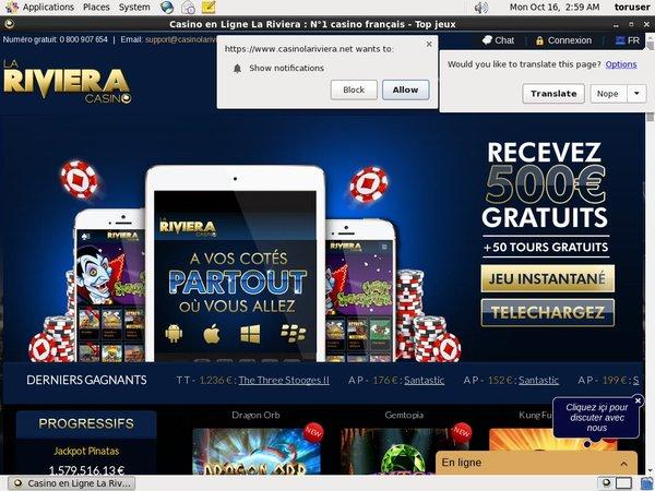 Rivieracasino Discount Offer