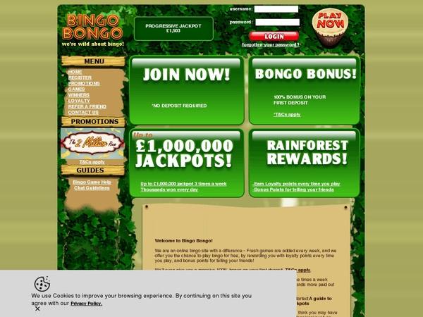 Bingobongo カジノ フリースピン