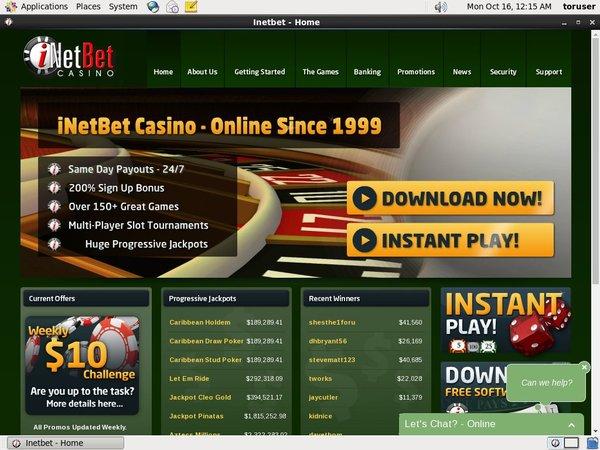 INetBet Casino Bonus Uk