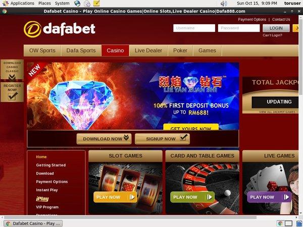 Dafabet Fast Bank Transfer