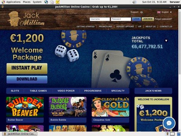 Jackmillion Deposit Money