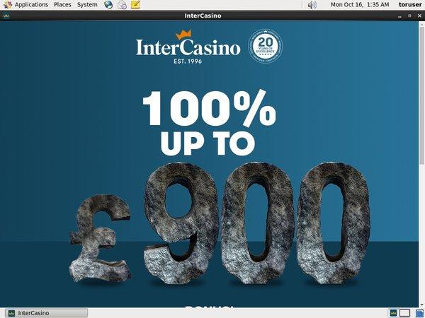 Welcome Offer Intercasino