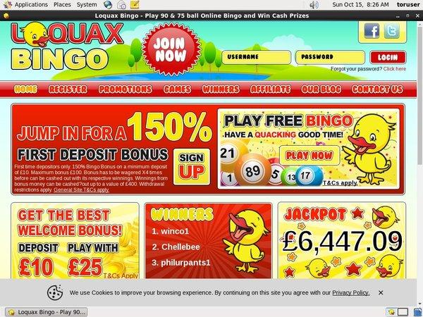 Loquax Bingo Dostac Bonus
