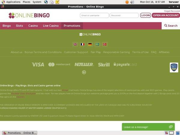 Extra Bonus Online Bingo