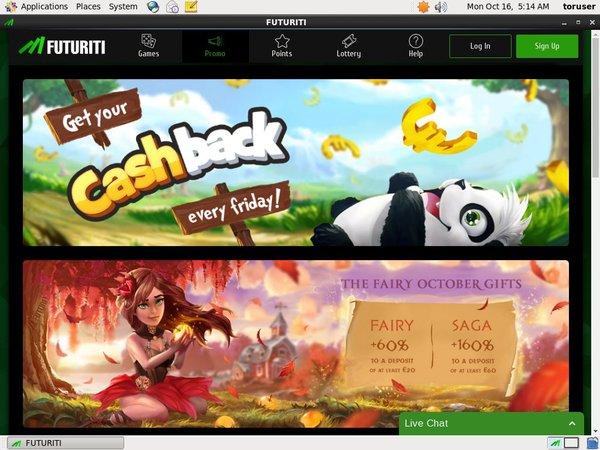 Futuriti Casino Free Bet